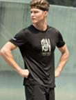 范斯蒂克运动T恤 MA1808402 男款黑色运动T恤