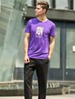 范斯蒂克运动T恤 MA1808401 男款紫色运动T恤