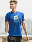 范斯蒂克运动T恤 MA1808404 男款蓝色运动T恤