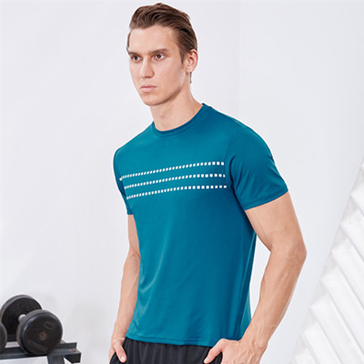 范斯蒂克运动T恤  MA912702 男款湖蓝色运动T恤 (适合健身等运动)