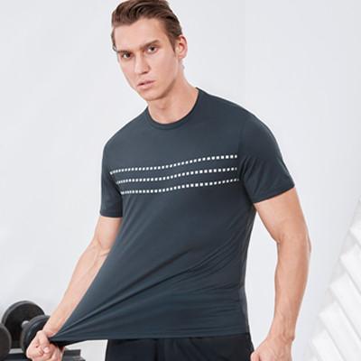 范斯蒂克运动T恤  MA912703 男款深灰色运动T恤 (适合健身等运动)
