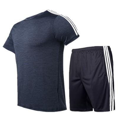 范斯蒂克套裝 MAT912301 男 深灰拼白邊套裝(適合健身,球類等運動)