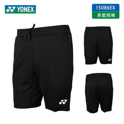 YONEX/尤尼克斯 羽毛球服15086比赛款VC面料yy运动短裤男款 黑色