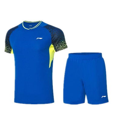 李寧比賽套裝 AATQ023-1男款羽毛球服套裝,羽毛球服團購套裝