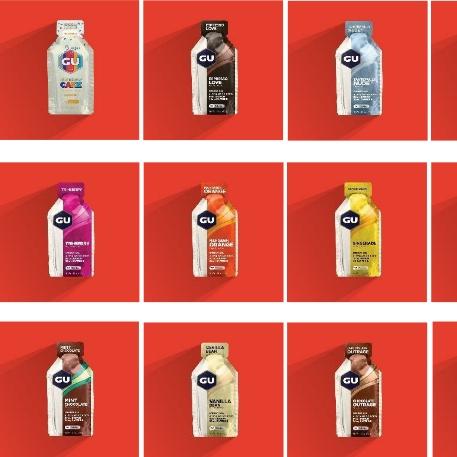 美国GU能量胶 12支装各种口味可选 马拉松跑步骑行健身羽毛球乒乓球运动能量补充