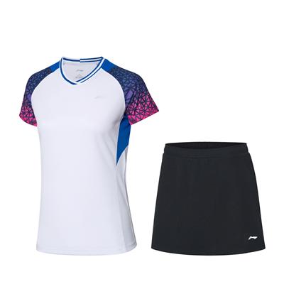 李寧比賽套裝 AATQ028-3 女款羽毛球服套裝,羽毛球服團購套裝