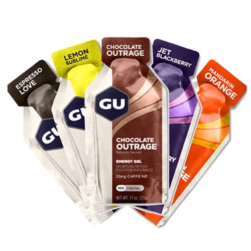 美国GU能量胶 5支装各种口味可选 马拉松跑步骑行健身羽毛球乒乓球运动能量补充