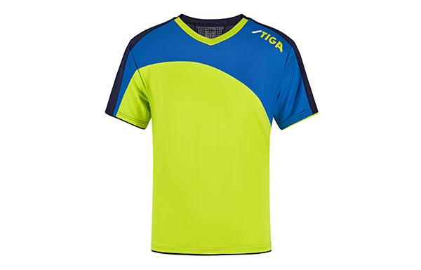 斯帝卡STIGA CA-6615 V领拼接短袖(藏蓝&蓝&绿)