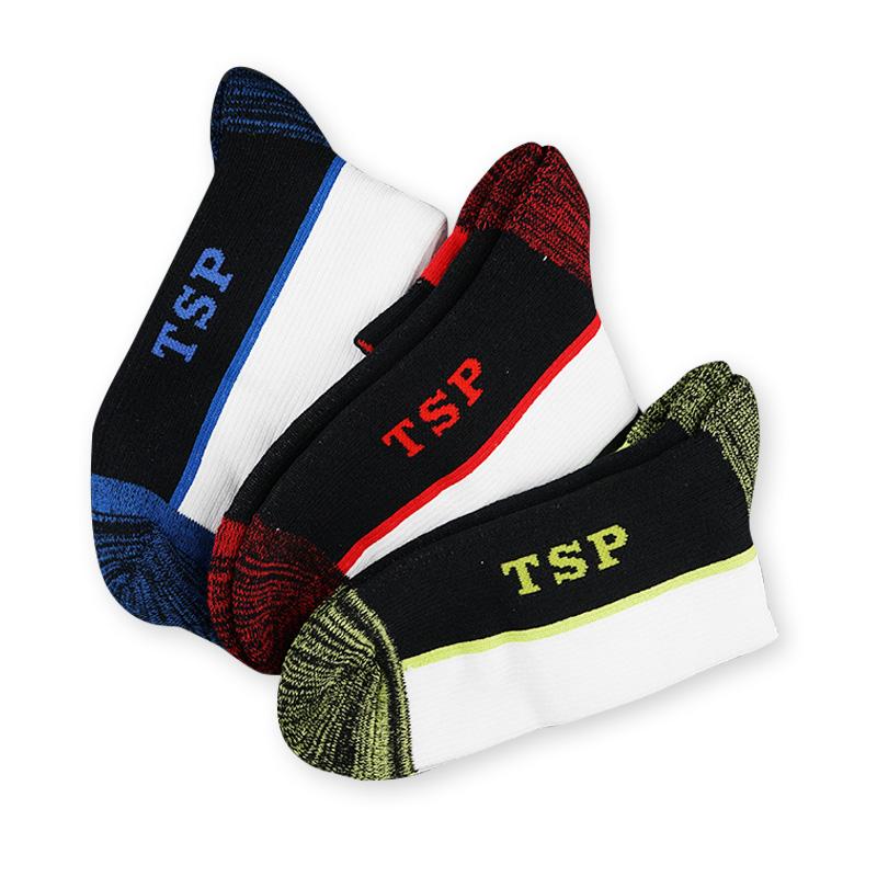 新款TSP 乒乓专业运动袜 男女款 黄绿色