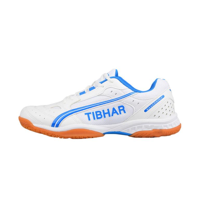 德国TIBHAR挺拔 飞舞 专业乒乓球运动鞋 白蓝