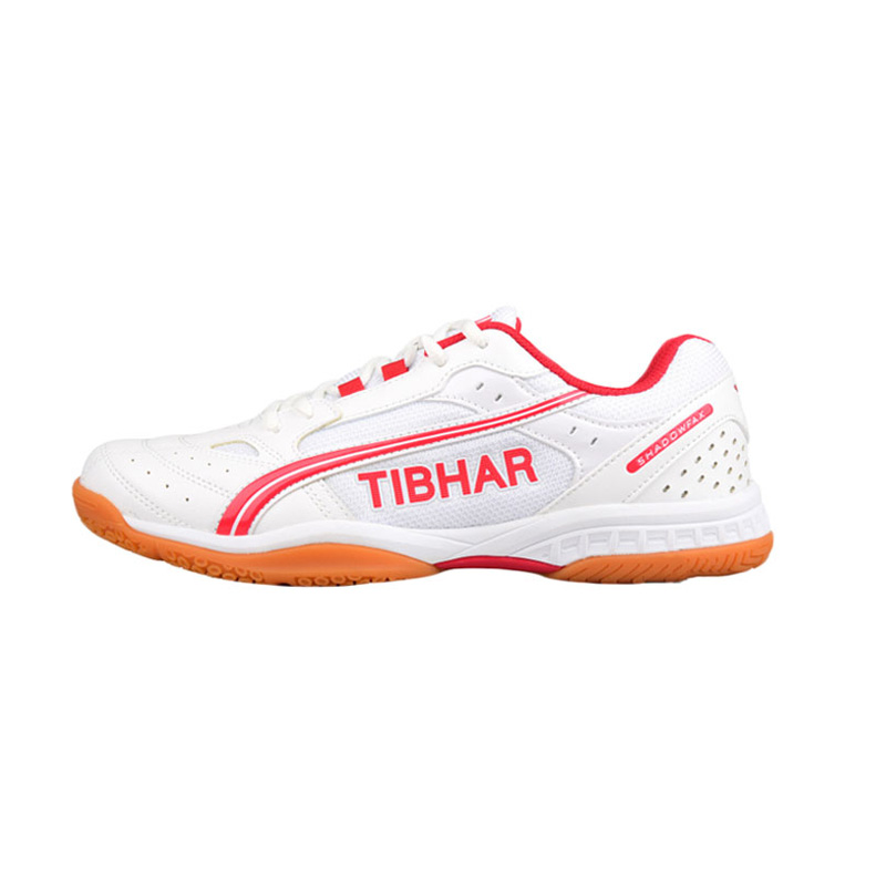 德国TIBHAR挺拔 飞舞 专业乒乓球运动鞋 白红