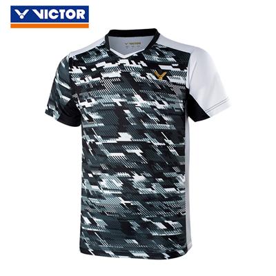 胜利VICTOR羽毛球服 T-85000C/D 韩国国家队大赛款 中性款 黑色/火焰红