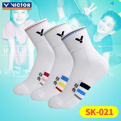 胜利VICTOR羽毛球袜 SK-021 儿童运动袜 三色可选