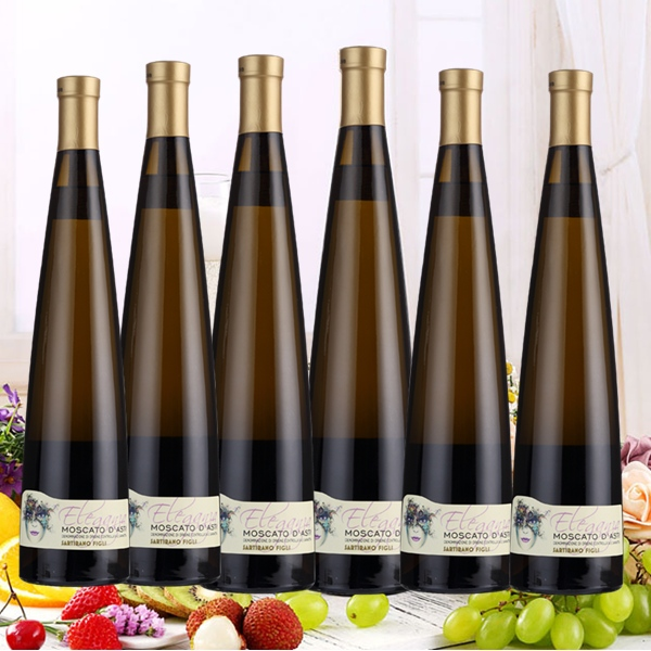 【優個會員酒館】意大利 阿斯蒂女王起泡酒 圣蒂亞諾精品酒莊莫斯卡托葡萄酒香檳酒 甜美清爽 750ml*6瓶