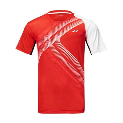 尤尼克斯YONEX羽毛球服 110410BCR 男款 短袖 橙色
