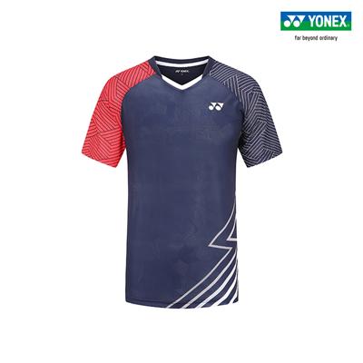 尤尼克斯YONEX羽毛球服 110130BCR 男款 短袖 藏青色