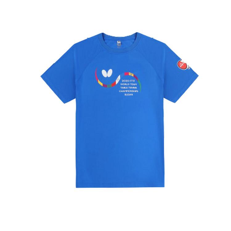 新款蝴蝶Butterfly BWH-828-03 乒乓球短袖運動短袖 藍色