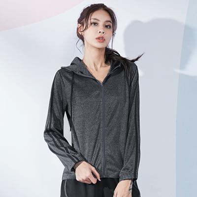 范斯蒂克运动上衣 FOR20574 女款 拉链连帽长袖 花灰色