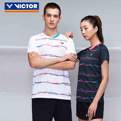 胜利VICTOR羽毛球服 T-90000 男款短袖T恤 比赛训练服 白/黑两款可选