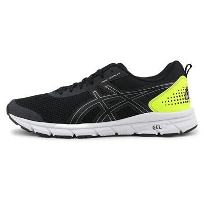 亚瑟士ASICS跑步鞋 GEL-33 RUN 男款 缓震型跑鞋 1011A638-001 黑色/银色/黄绿