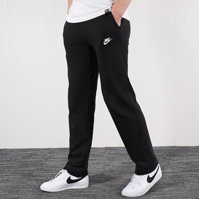 耐克NIKE运动长裤 男款 经典款式针织直筒裤 804400-010 黑色