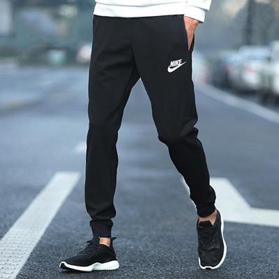 耐克NIKE运动长裤 男款 经典款式针织束脚裤 804462-010 黑色