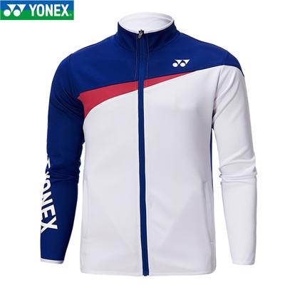 尤尼克斯YONEX羽毛球外套 林丹李龙大同款 男女款 拉链立领长袖 9008/9009 蓝白