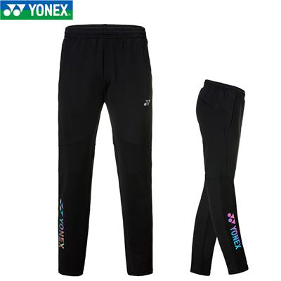 尤尼克斯YONEX羽毛球长裤 9012/9013 男女款 炫彩图标/黑色