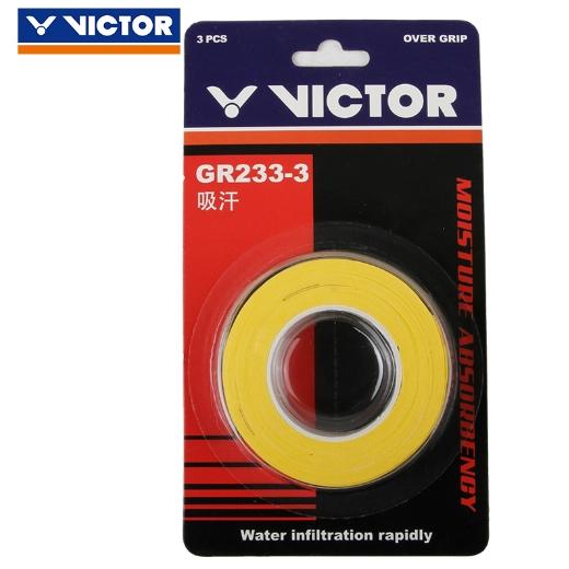 VICTOR胜利GR233-3外握把胶(光面手胶吸汗带,单色三条装)