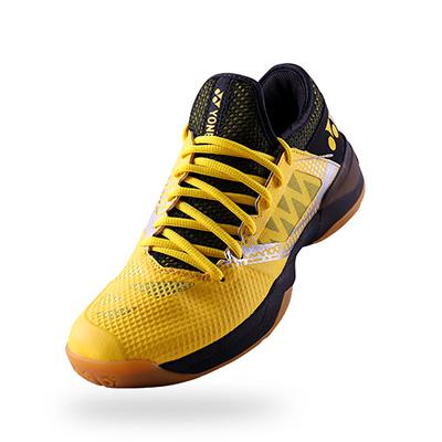 YONEX尤尼克斯羽毛球鞋 CFZ二代林丹战靴SHB-CFZ2EX 男款黄色 超减震包裹性好防滑出色