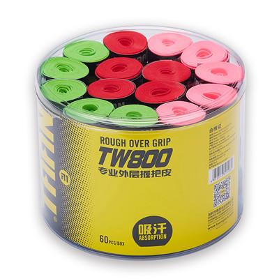 泰昂Taan手胶TW800桶装手胶(磨砂防滑,干性吸汗,多种颜色,一桶60个,颜色随机)