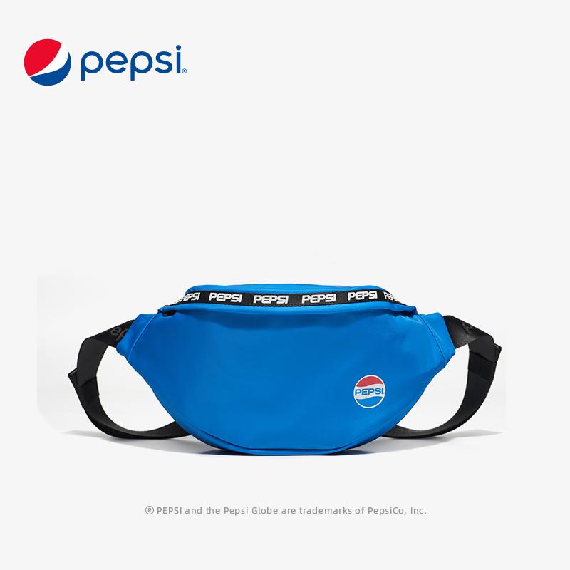 百事Pepsi包包新款百搭休闲潮流腰包时尚街头帆布ins超火胸包