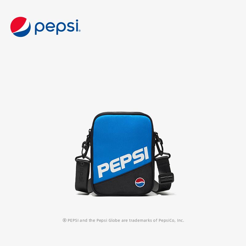 百事Pepsi包包新款时尚休闲潮流竖款小方包尼龙轻便单肩斜挎包手机包