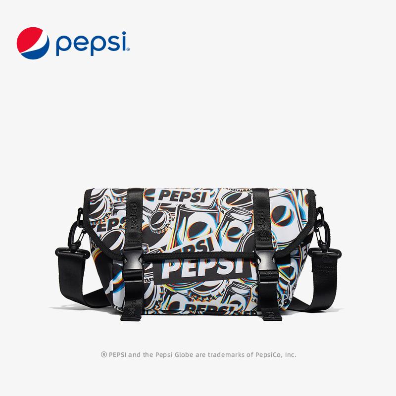 百事Pepsi包包新款時尚簡約印花單肩斜挎包大容量輕便郵差包