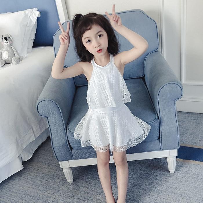 佑游 39203 连体公主裙式女童泳衣