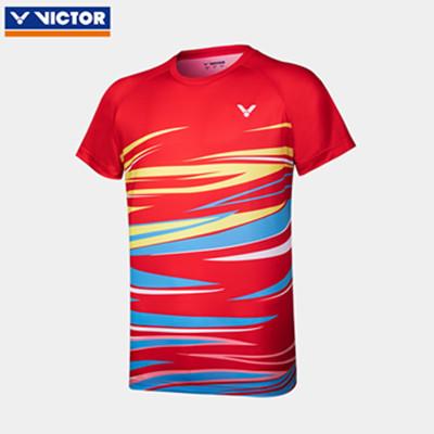 威克多胜利VICTOR羽毛球T恤 T-10031D男女款针织T恤