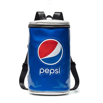 Pepsi百事 春夏新款大容量圆筒包双肩包百事可乐罐装背包 BB04A203034