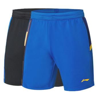 李宁羽毛球比赛短裤 AAPR009 全英公开赛男款运动短裤