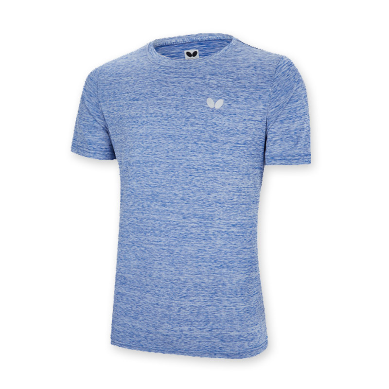蝴蝶butterfly BWH-831-03 蓝色运动短袖T恤吸汗速干透气舒适乒乓球运动服男女同款比赛训练休闲