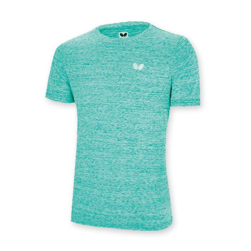 蝴蝶butterfly BWH-831-04 青色短袖T恤吸汗乒乓球运动服男女同款运动衣
