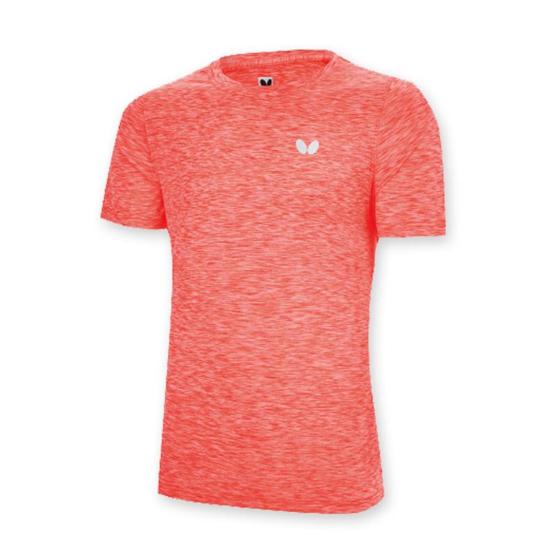蝴蝶butterfly  BWH-831-06 橙色短袖T恤吸汗乒乓球运动服男女同款运动衣