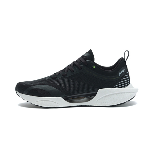 李宁 超轻18男子轻质跑鞋2021新品beng回弹缓震鞋低帮运动鞋 ARMR007-2黑色
