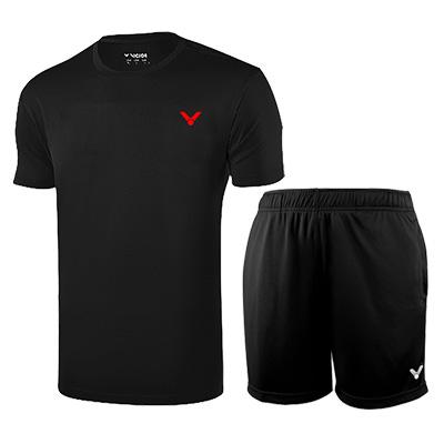 胜利羽毛球套装 T-90022C+R-6299C 男款性价比之选