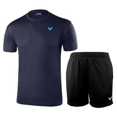 胜利羽毛球套装 T-90022B+R-6299C 男款性价比之选