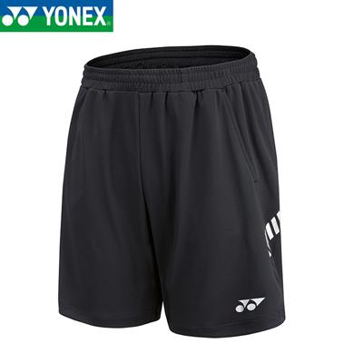 尤尼克斯YONEX羽毛球短裤 120061BCR 男款 yy透气吸汗速干运动短裤 黑色