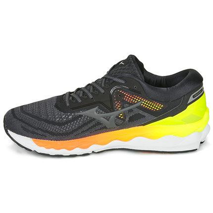 Mizuno美津浓 WAVE SKY 4男子专业减震稳定耐磨透气慢跑跑步鞋 J1GC200236黑橙
