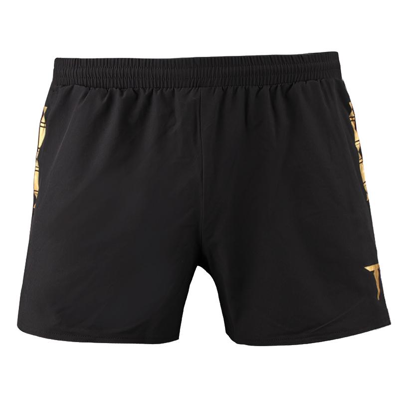 挺拔TIBHAR 01910A 黑金色乒乓球运动短裤
