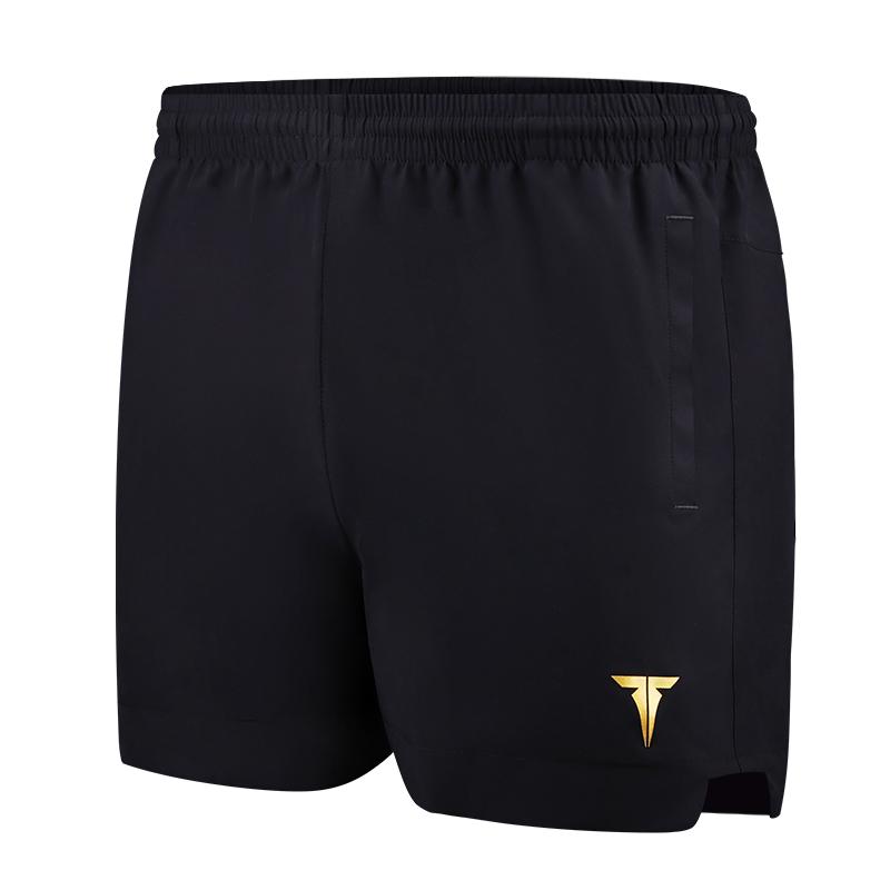 挺拔TIBHAR TB3 黑金色乒乓球运动短裤