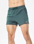 UTO悠途 男款健身速干三分宽松短裤马拉松跑步短裤田径训练体考薄款运动裤 橄榄绿