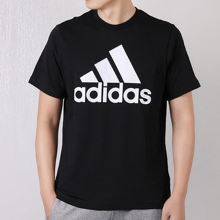 Adidas阿迪达斯 男款运动休闲舒适透气短袖纯棉T恤DT9933